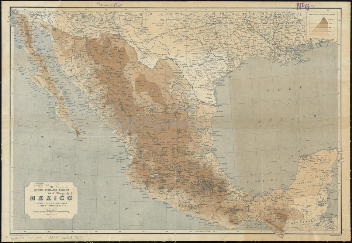 The National Geographic Magazine map of Mexico