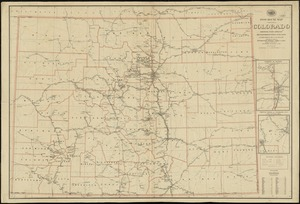 Post route map of the State of Colorado showing post offices with the intermediate distances on mail routes in operation on the 1st of Sept. 1897