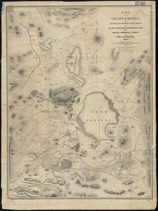 Map of the Valley of Mexico with a plan of the defences of the capital and the line of operations of the United States Army under Major General Scott, in August and September 1847