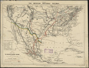 Map of the Mexican National Railway