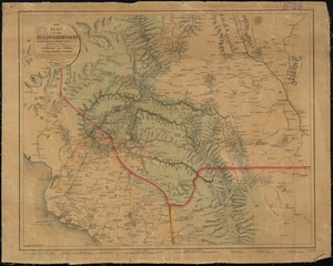 Map of the Texas, Topolobampo and Pacific Railroad and Telegraph Cpy. (Western Division)