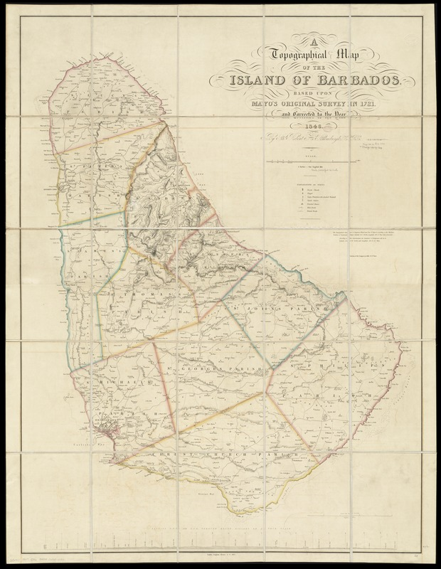 A topographical map of the island of Barbados - Norman B ...