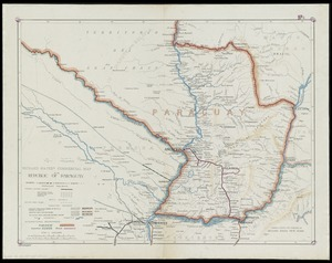 Richard Mayer's commercial map of the republic of Paraguay