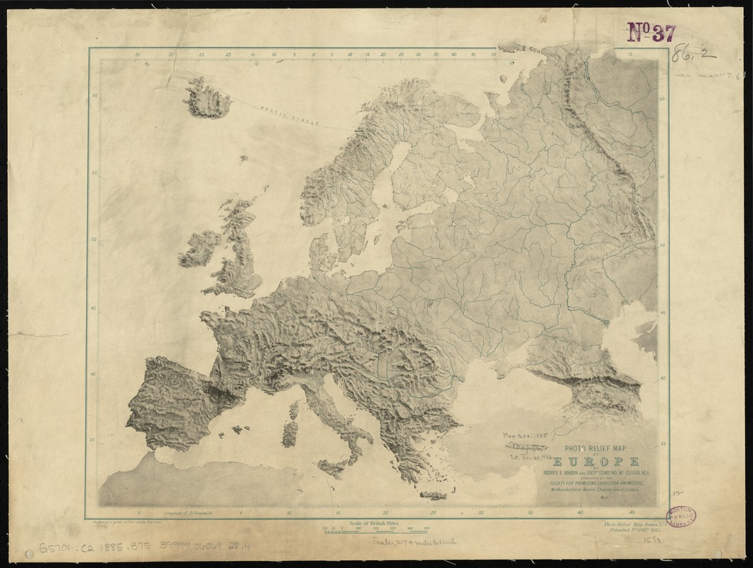 Photo relief map of Europe