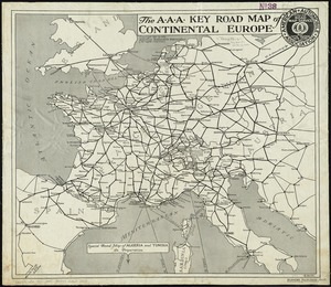 The A.A.A. key road map of continental Europe