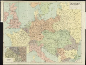 The Daily Telegraph war map of Europe (no. 1)