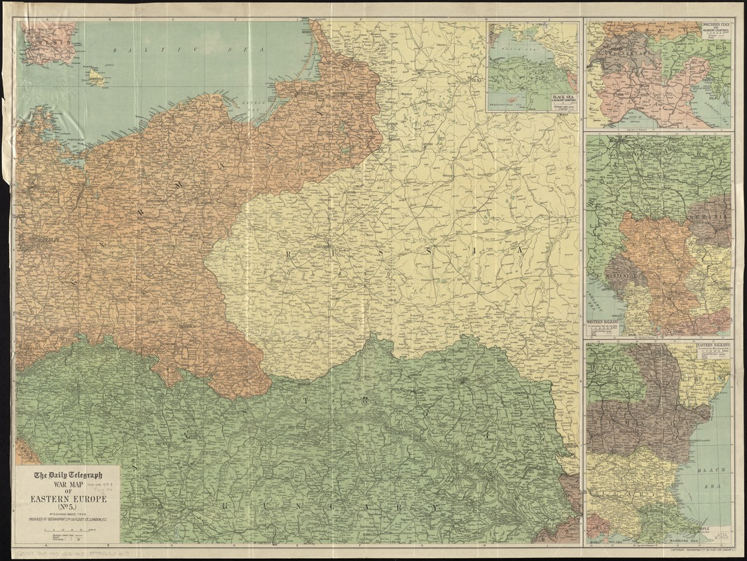 The Daily Telegraph war map of eastern Europe (no. 5)
