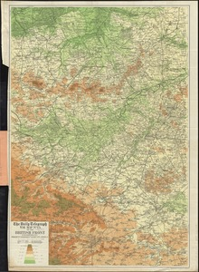 The Daily Telegraph war map no. 13 of the British front