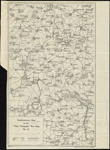 "Supplementary map to the ""Daily Telegraph"" war map no. 13"