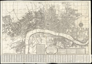 A new and exact plan of the city's of London and Westminster, the borough of Southwark