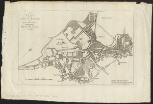 A plan of the town of Boston, in New-England, distinguishing that part which was burnt in 1760