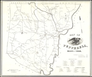 Map of Pepperell, Mass. - 1844