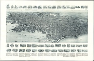 Aero view of Lynn, Mass, 1916