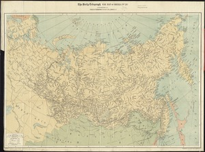 The Daily Telegraph war map of Siberia (no. 28)