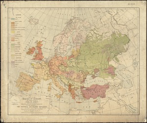 Map of the races of Europe and adjoining portions of Asia and Africa