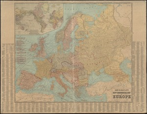 Rand McNally & Co's new commercial map of Europe