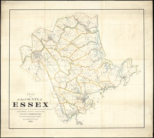 Plan of the county of Essex