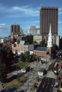 Common, Park Street Church & downtown office buildings, downtown Boston