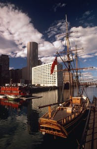 """""""Tea Party ship"""" HMS Beaver at Fort Point, downtown waterfront"""