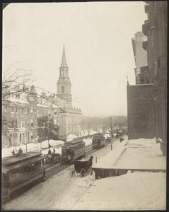 Boylston Street and the Arlington Street Church, Boston, Massachusetts
