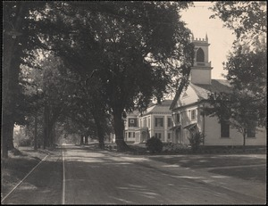 Cochituate Road, Wayland - Orthodox church, Odd Fellows Hall, school