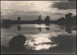 Sunset over Baldwin's Pond, Wayland