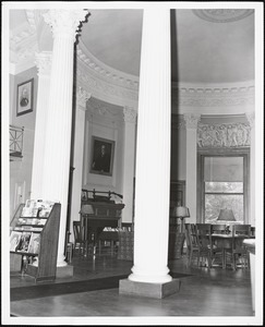 Wayland Library, round room, east fireplace