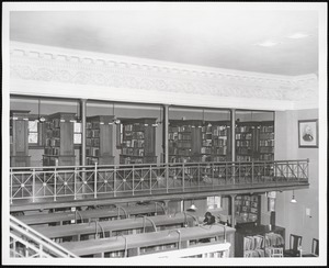 Wayland Library, upper east stacks