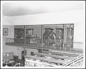 Wayland Library, upper west stacks