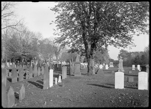 Cemetery looking east from church