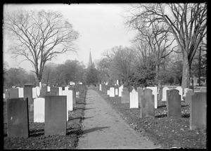 Cemetery & church looking west