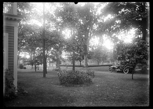 T W Leete - looking northwest from house, auto