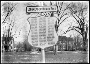 Honor roll, Longmeadow Street