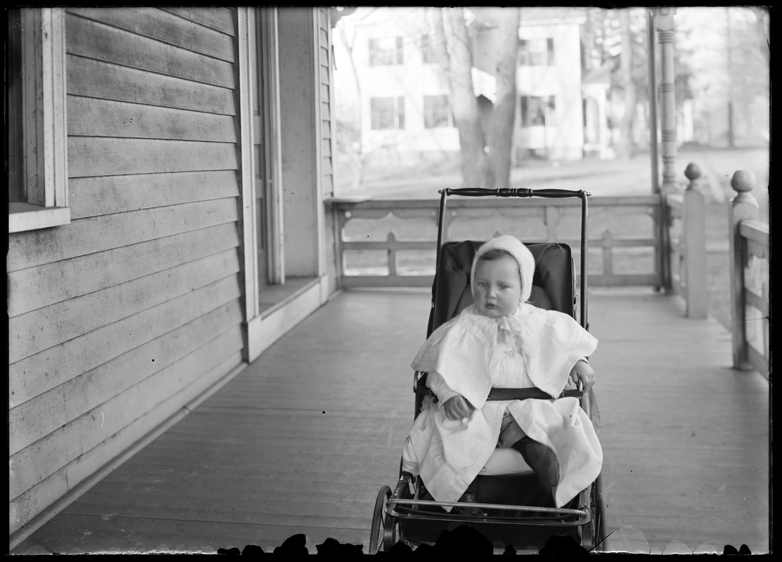 Young's child in carriage in parsonage