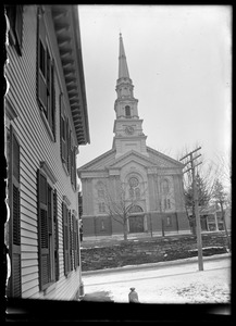 Congregational church front