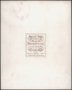 Boston Architectural Club sketchbook, title page