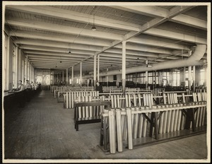 Engraving dept., shell racks. Office building, 2nd. floor