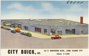 City Buick, Inc. 36-11 Northern Blvd., Long Island City, EXeter 2-1300