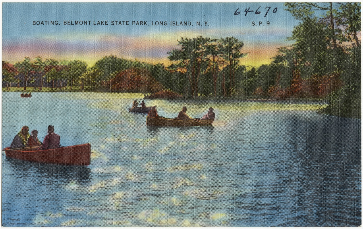 Boating Belmont Lake State Park Long Island N Y