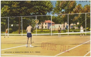 Activities at Manhattan Beach, N. Y. Tennis