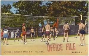 Activities at Manhattan Beach, N. Y. Volley ball