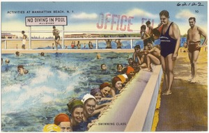 Activities at Manhattan Beach, N. Y. Swimming class