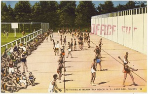 Activities at Manhattan Beach, N. Y. Hand ball courts