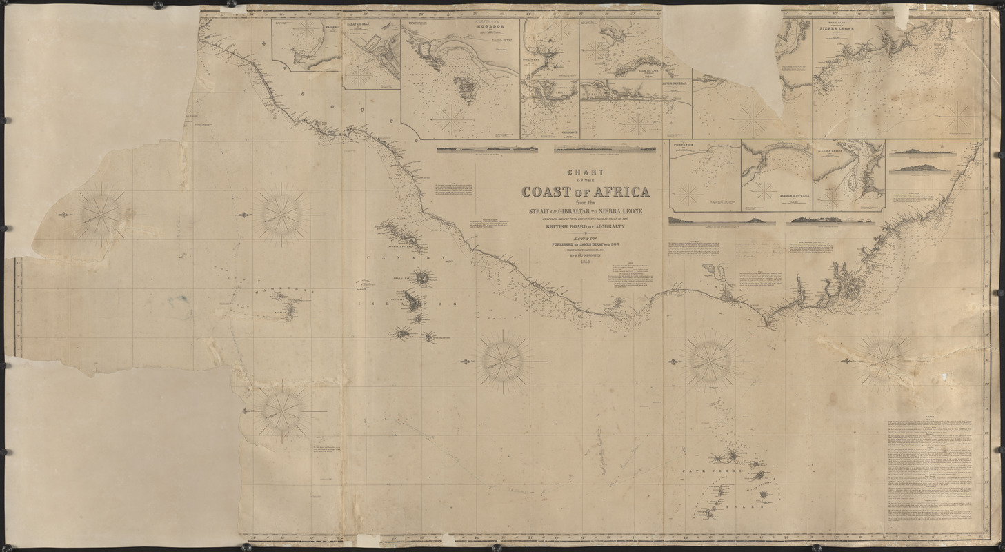 Chart of the coast of Africa from the Strait of Gibraltar to Sierra Leone