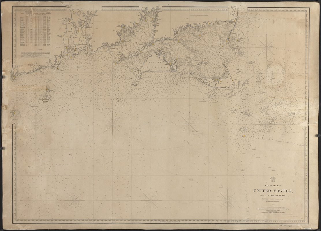 Coast of the United States from New York to Cape Ann