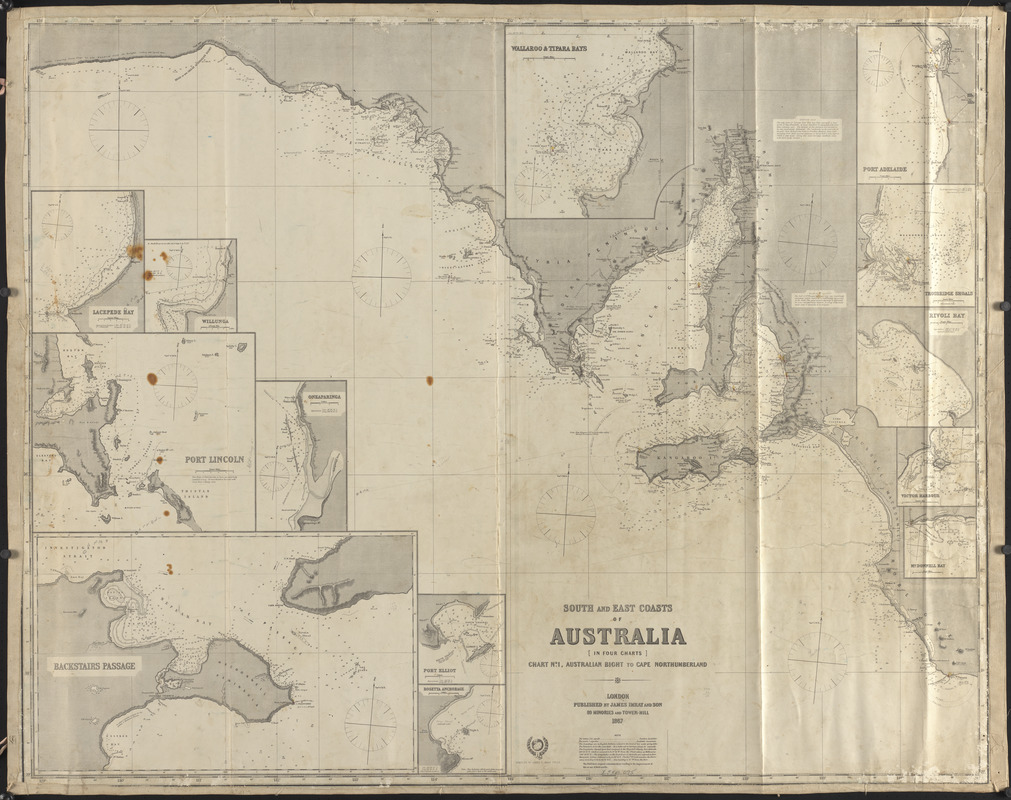 South and east coasts of Australia, chart no. 1, Australian Bight to Cape Northumberland