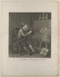 Hogarth painting the cosmic muse