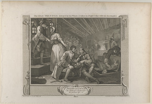 Pl. 9. The idle 'prentice betrayed by his whore and taken in a night cellar with his accomplice