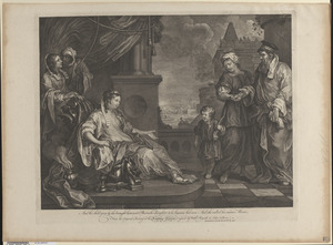 Moses brought to Pharaoh's daughter