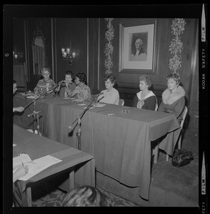 Audrey Bell, Grace Ray, Enid Coolymore, Peggy Jordaan, Ludmila Davis, and Peggy Hartin participating in panel discussion at National Congress of Operating Room Nurses